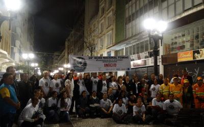 10ª Ação Febrac leva show de limpeza à rua XV de Novembro