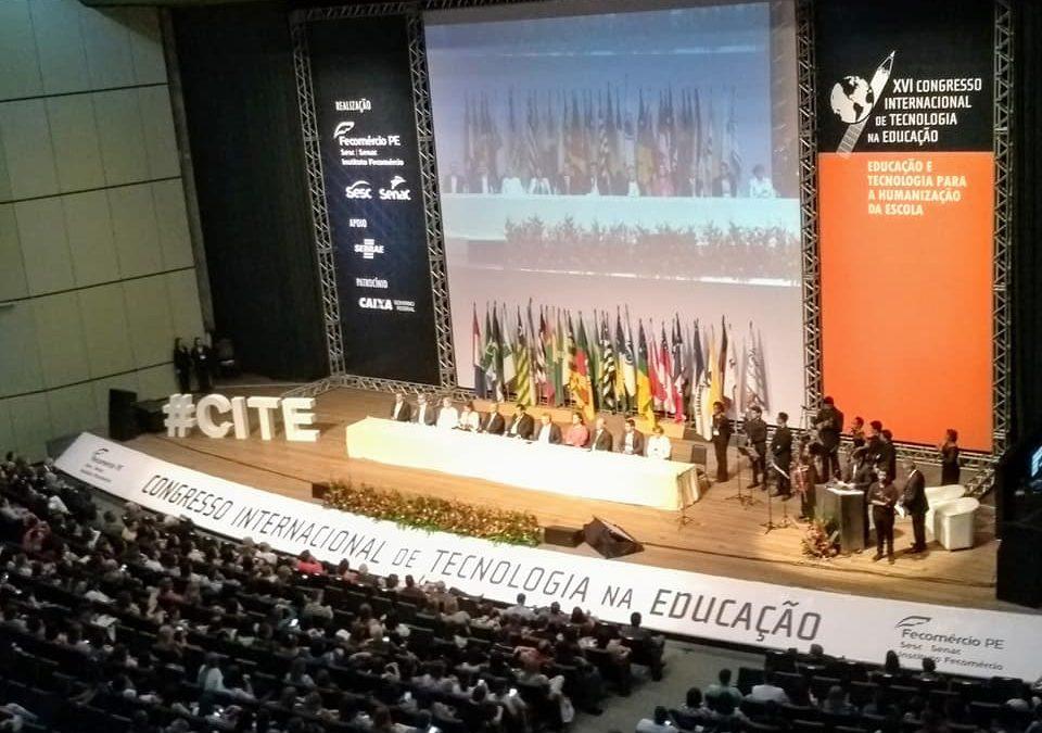 CEPNKA, a escola da FACOP, marca presença no XVI Congresso Internacional de Tecnologia na Educação