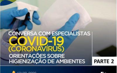 Higienização de ambientes: orientações para prevenir a Covid-19